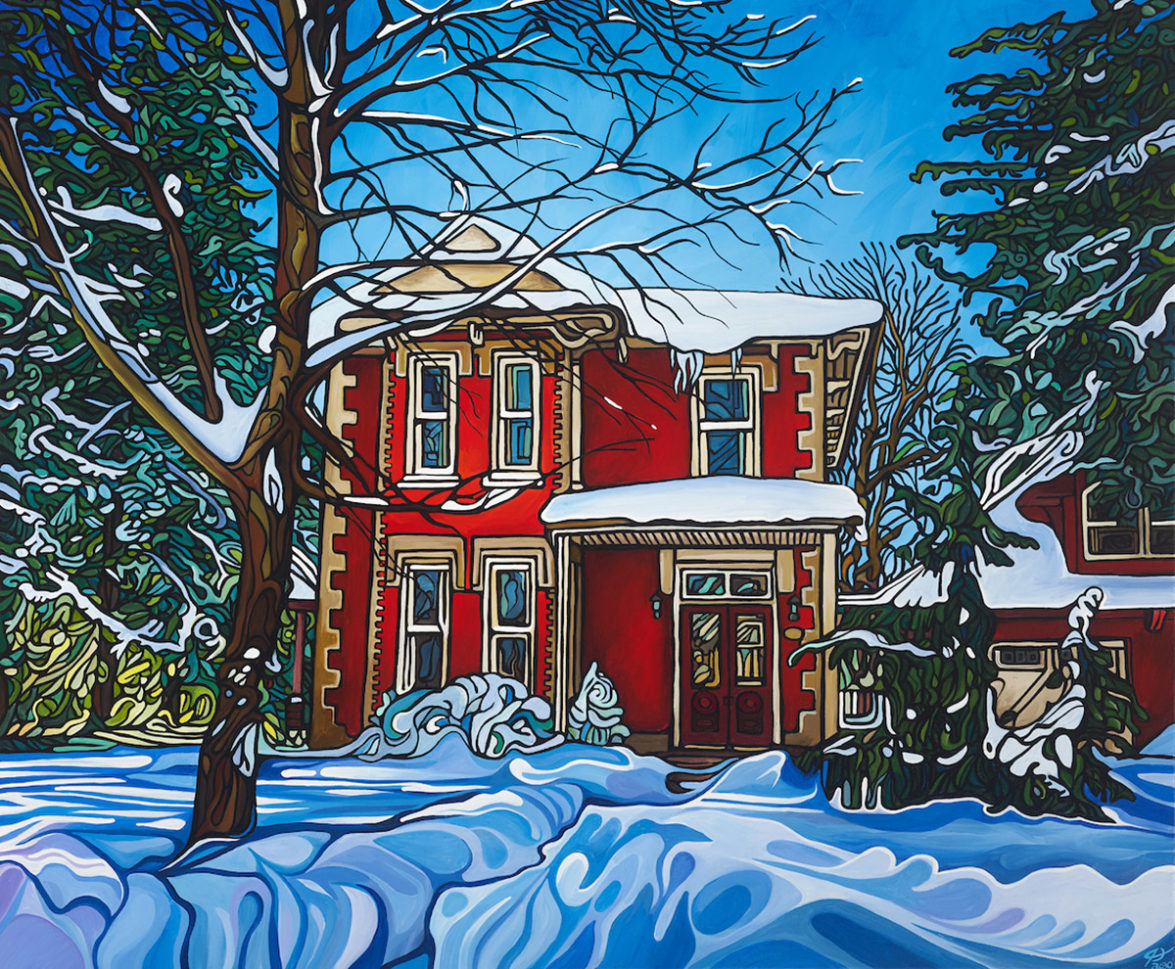 186 Red House In Winter