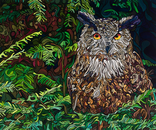 Inconspicuous Roost Painting